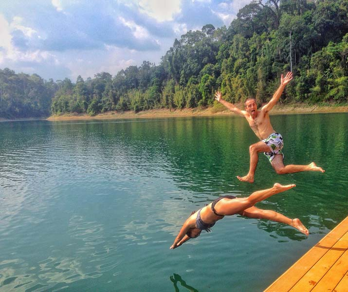 A Cruising Couple Adventure Travel Bloggers Jumping