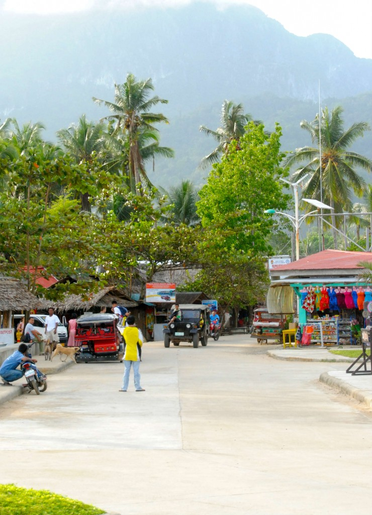 Small town near the Underground River