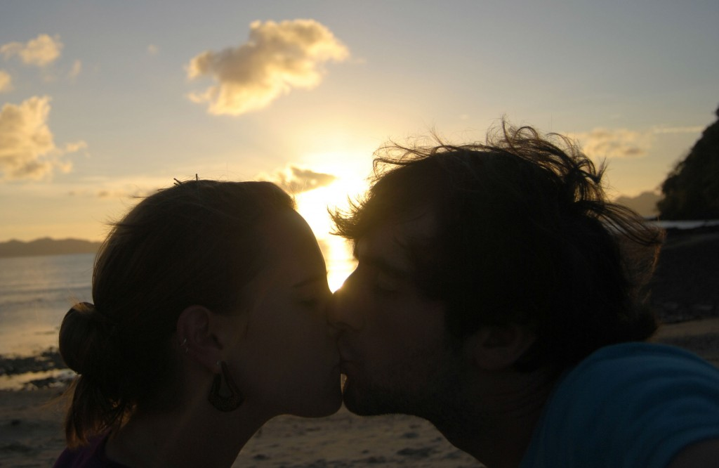 A Cruising Couple, Sunset Smooch, El Nido