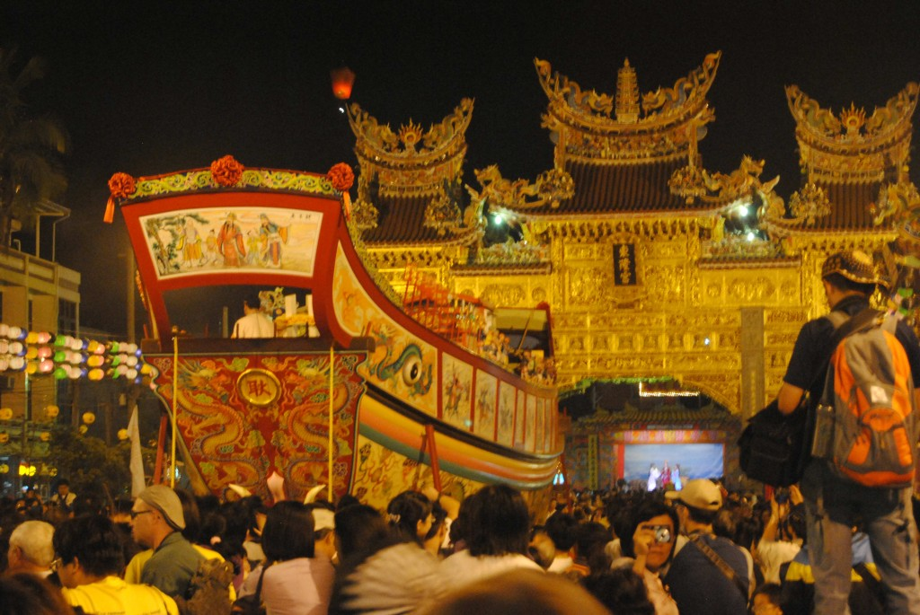 Boat Burning Festival at the Temple