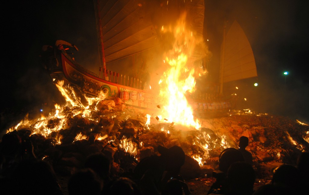 Burning at Boat Burning Festival
