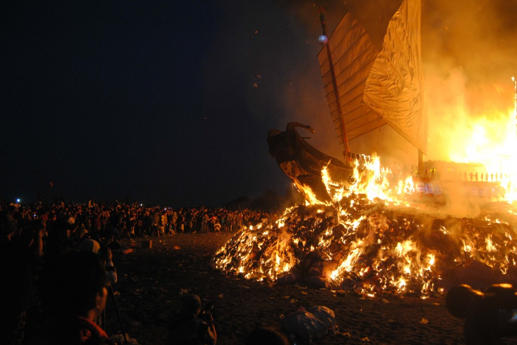 Crowd at Boat Burning Festival