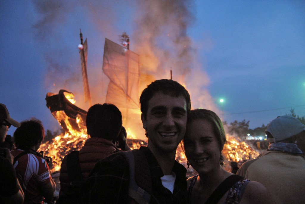 A Cruising Couple at Boat Burning Festival