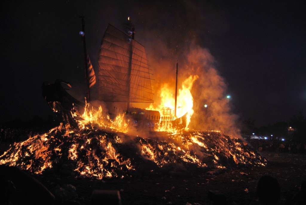 Up In Flames at Boat Burning Festival