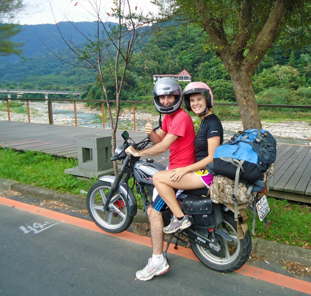 A Cruising Couple On The Road During October In Taiwan