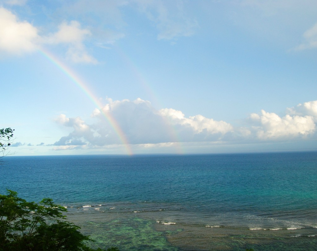 Double Raindow Over Bingin Beach