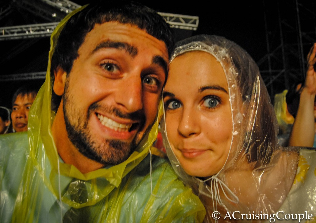 A Cruising Couple in Ponchos