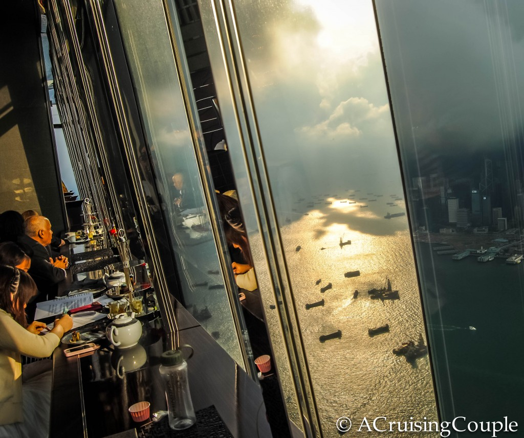 Restaurant ICC View Hong Kong Skyline