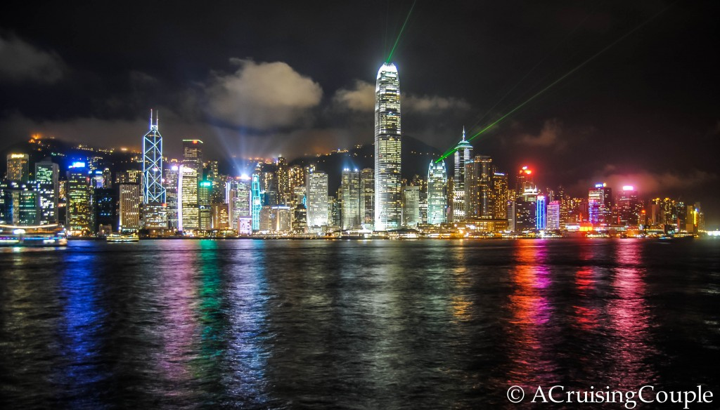 Symphony of the Stars Tsim Sha Tsui Victoria Harbor Hong Kong Skyline