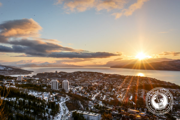 Sunset over Fjord - Narvik, Norway