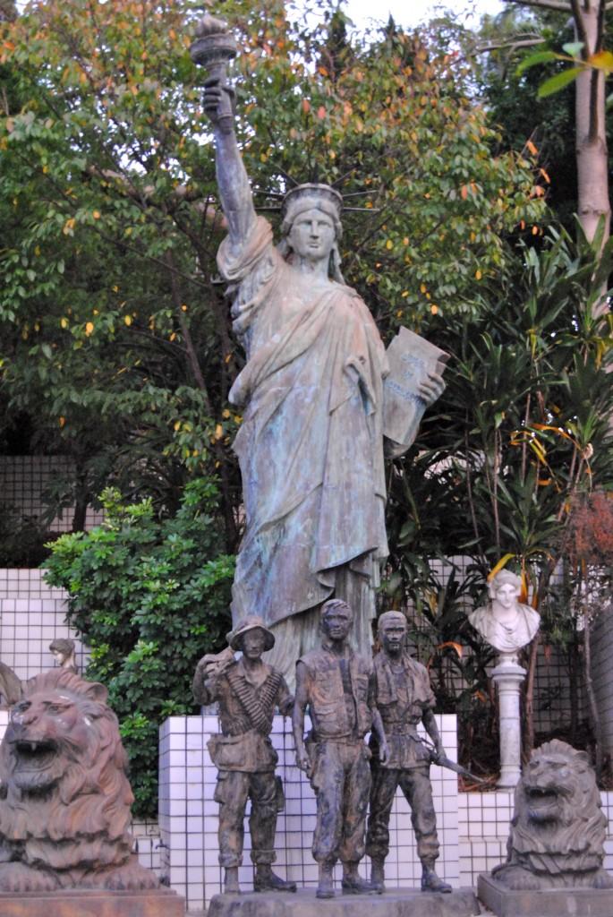 Statue of Liberty at Green Grass Lake
