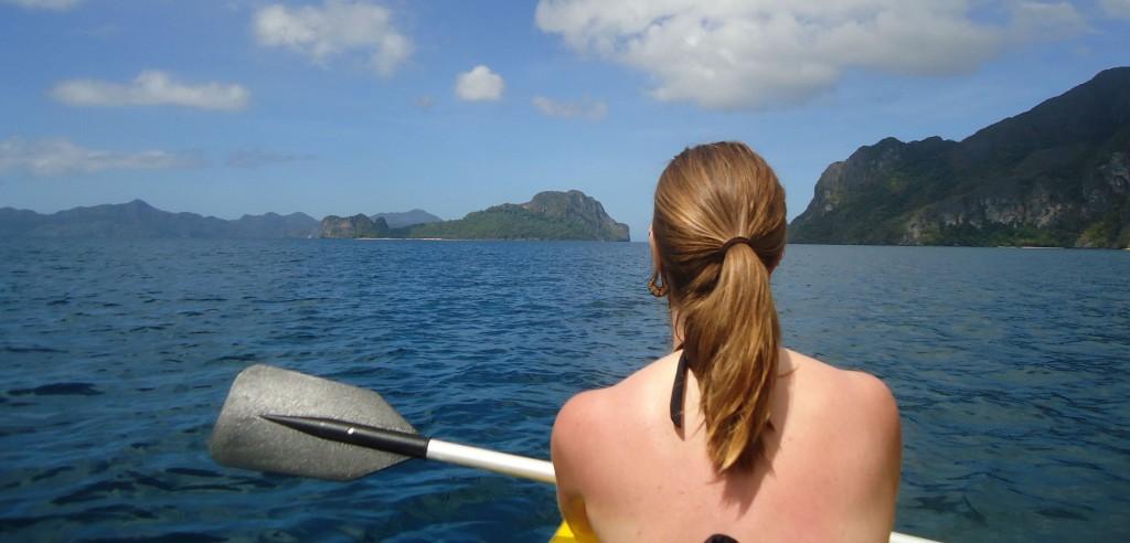 A Cruising Couple, Kayak to Helicopter Island, El Nido