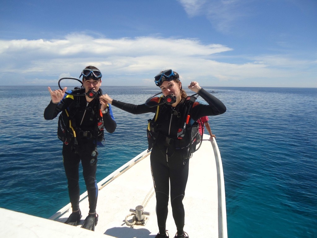 A Cruising Couple, SCUBA, Philippines