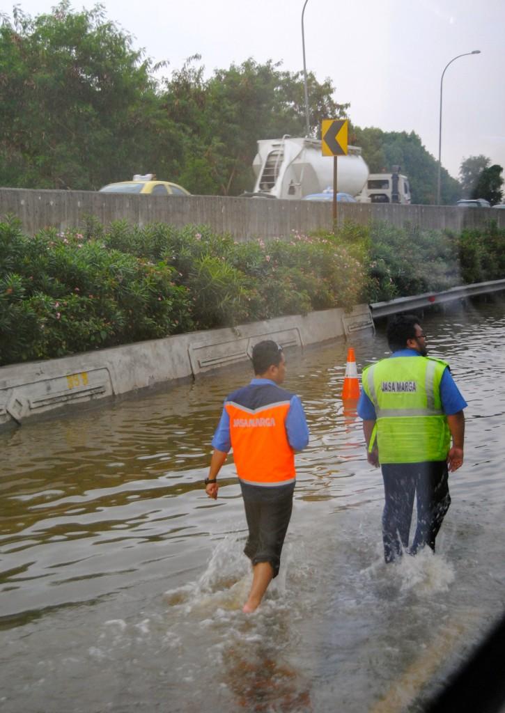 Flooding in Jakarta, Indonesia