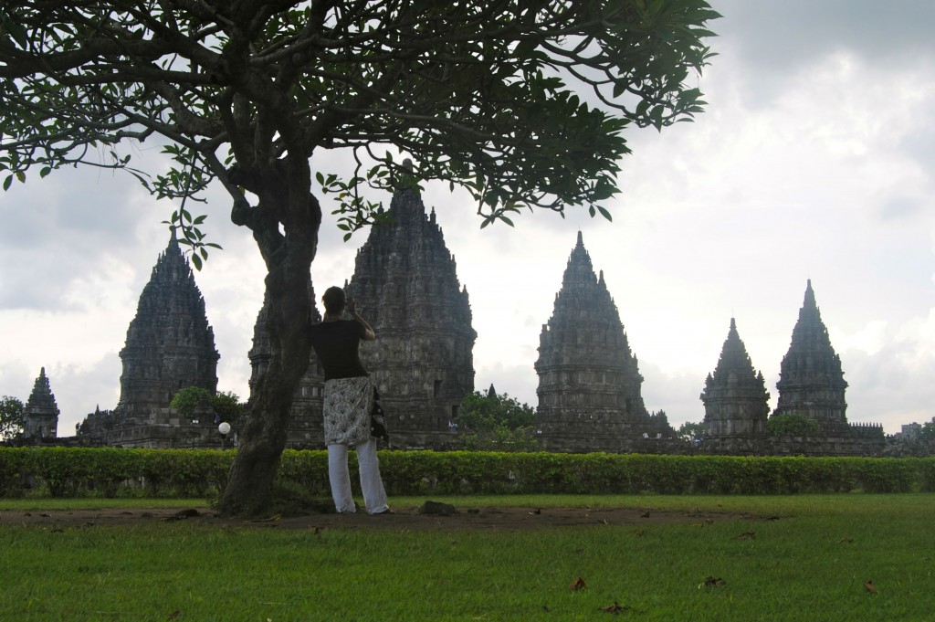 A Cruising Couple, Tree pose, Prambanan