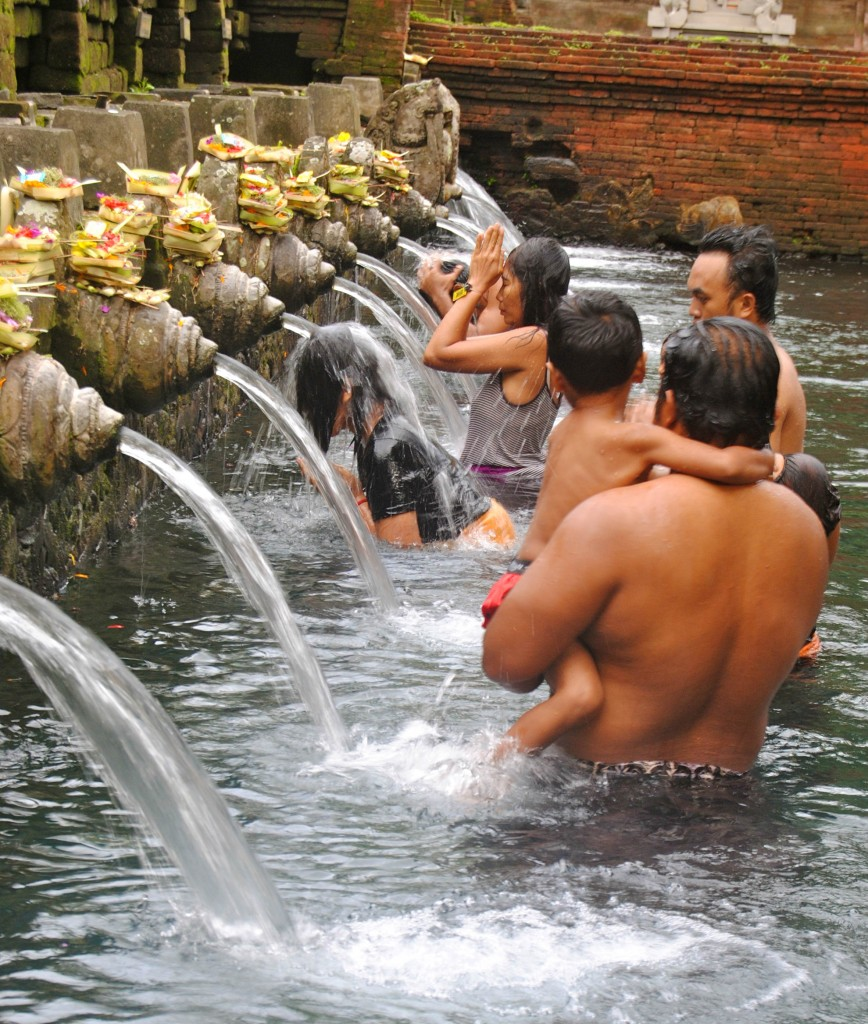 Holy Water Blessings, Ubud, Bali