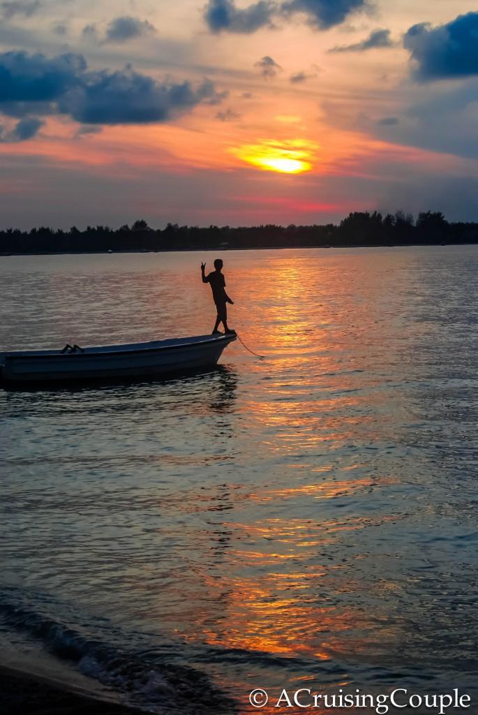 Gili Islands Fishing Sunset