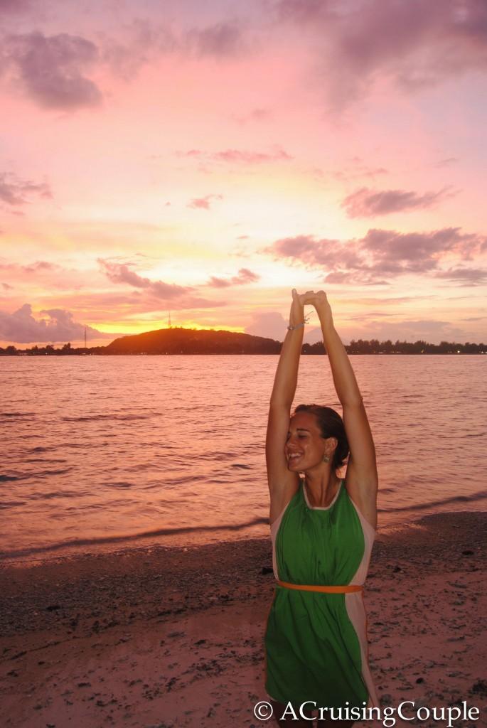 Gili Islands Sunset A Cruising Couple