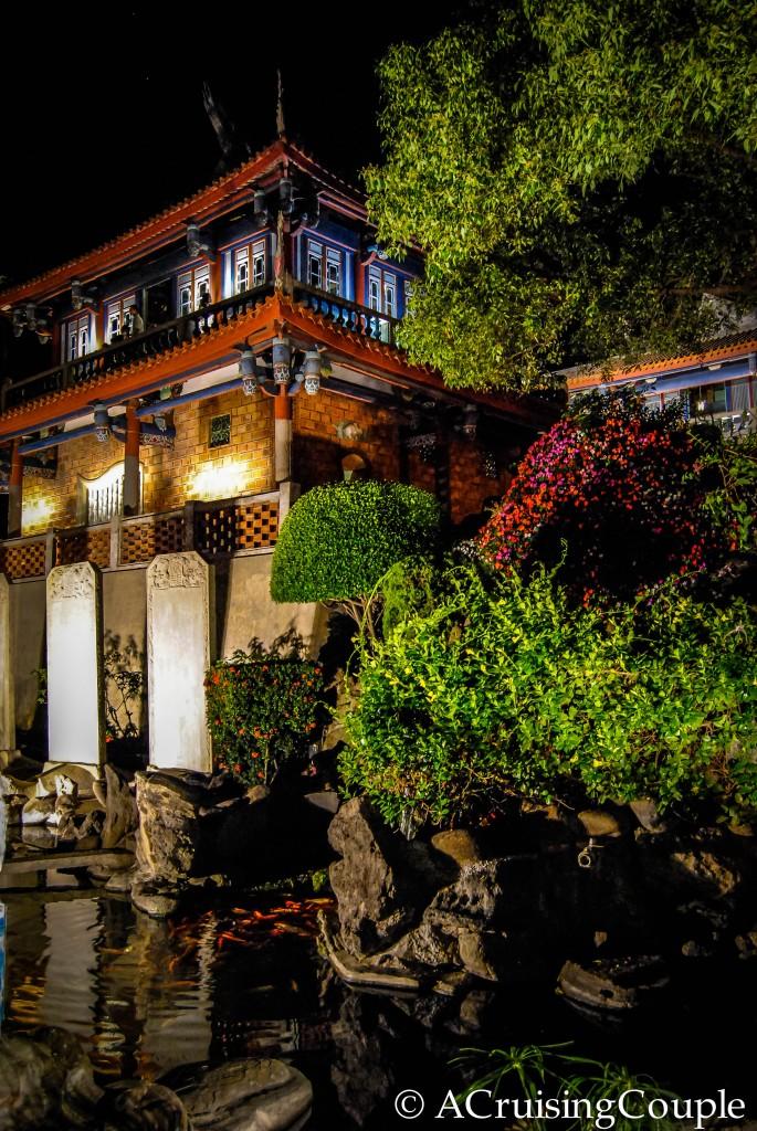 Chihkan Towers Tainan Taiwan night