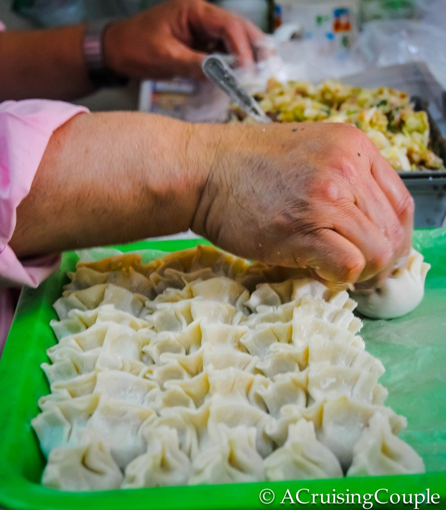 Dumpling Making in Taiwan