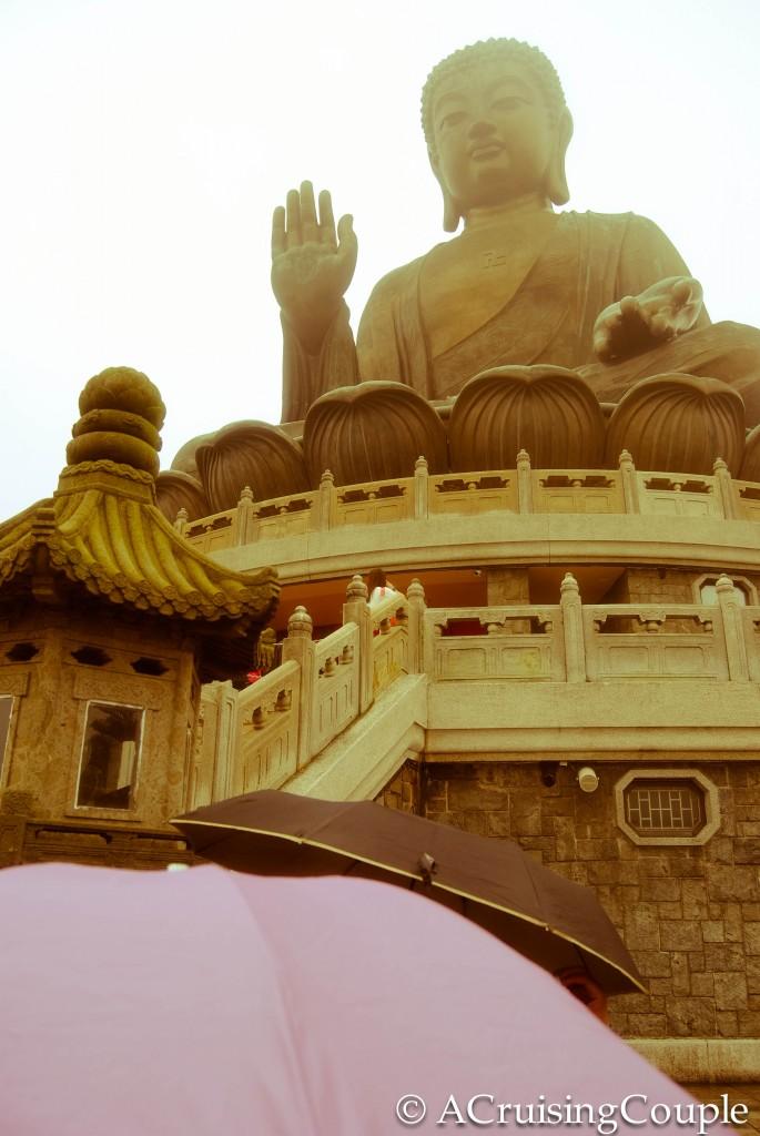 Umbrella Big Buddha Lantau Island