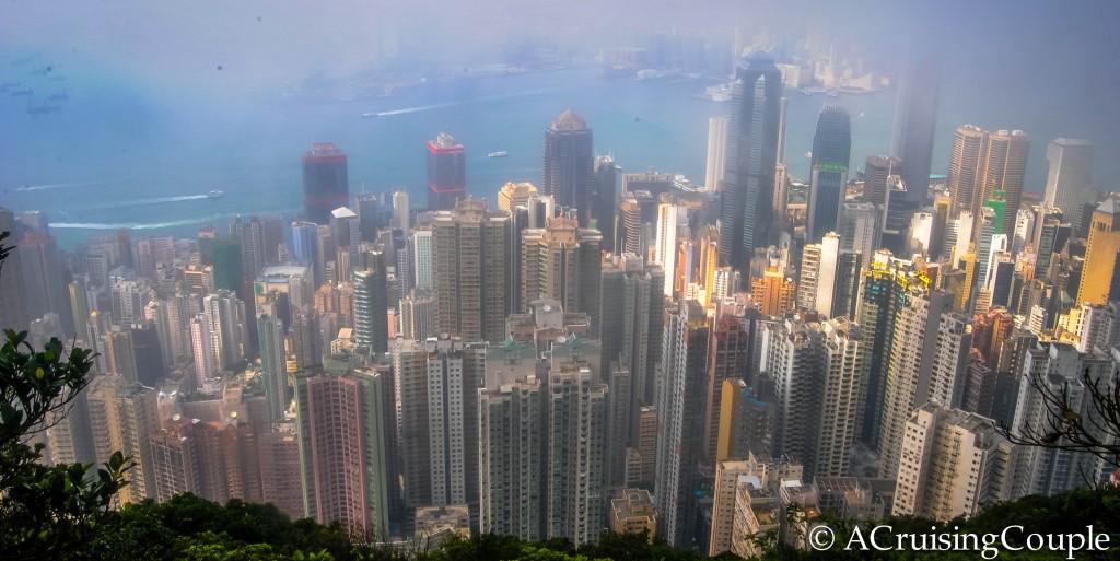 Victoria Peak Victoria Harbor Hong Kong Skyline