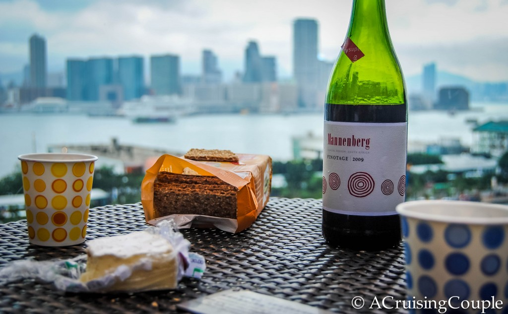 Wine and Cheese Victoria Harbor Hong Kong Skyline
