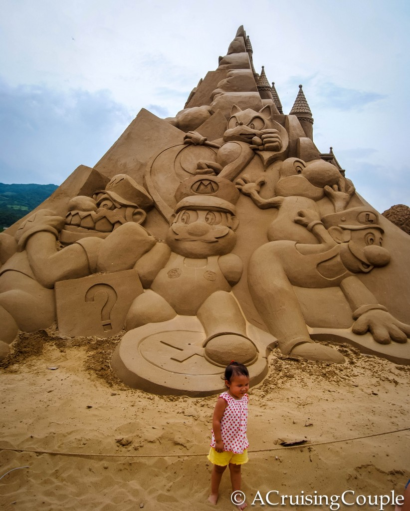 Fulong International Sand Sculpture Festival Taiwan Mario Bros
