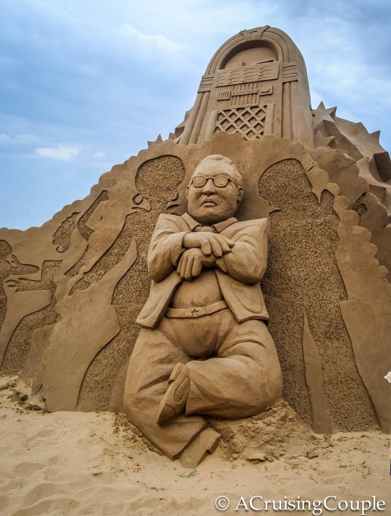 Fulong International Sand Sculpture Festival Taiwan PSY