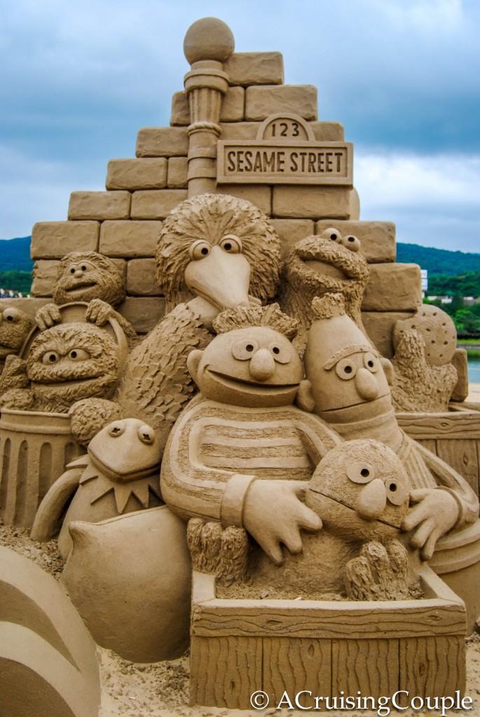 Fulong International Sand Sculpture Festival Taiwan Sesame Street