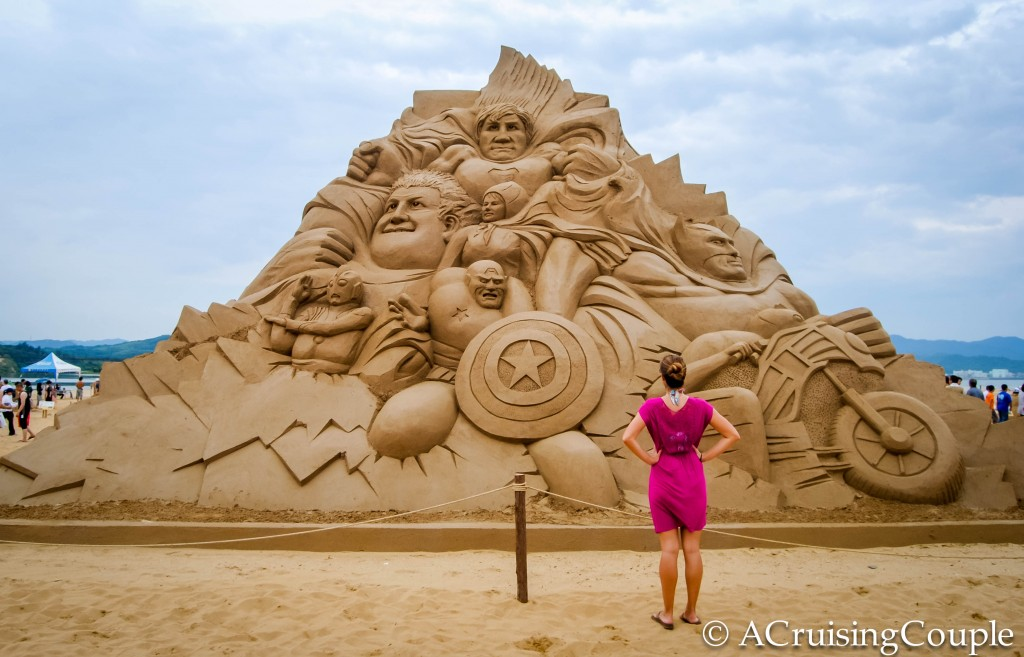 Fulong International Sand Sculpture Festival Taiwan Superheroes