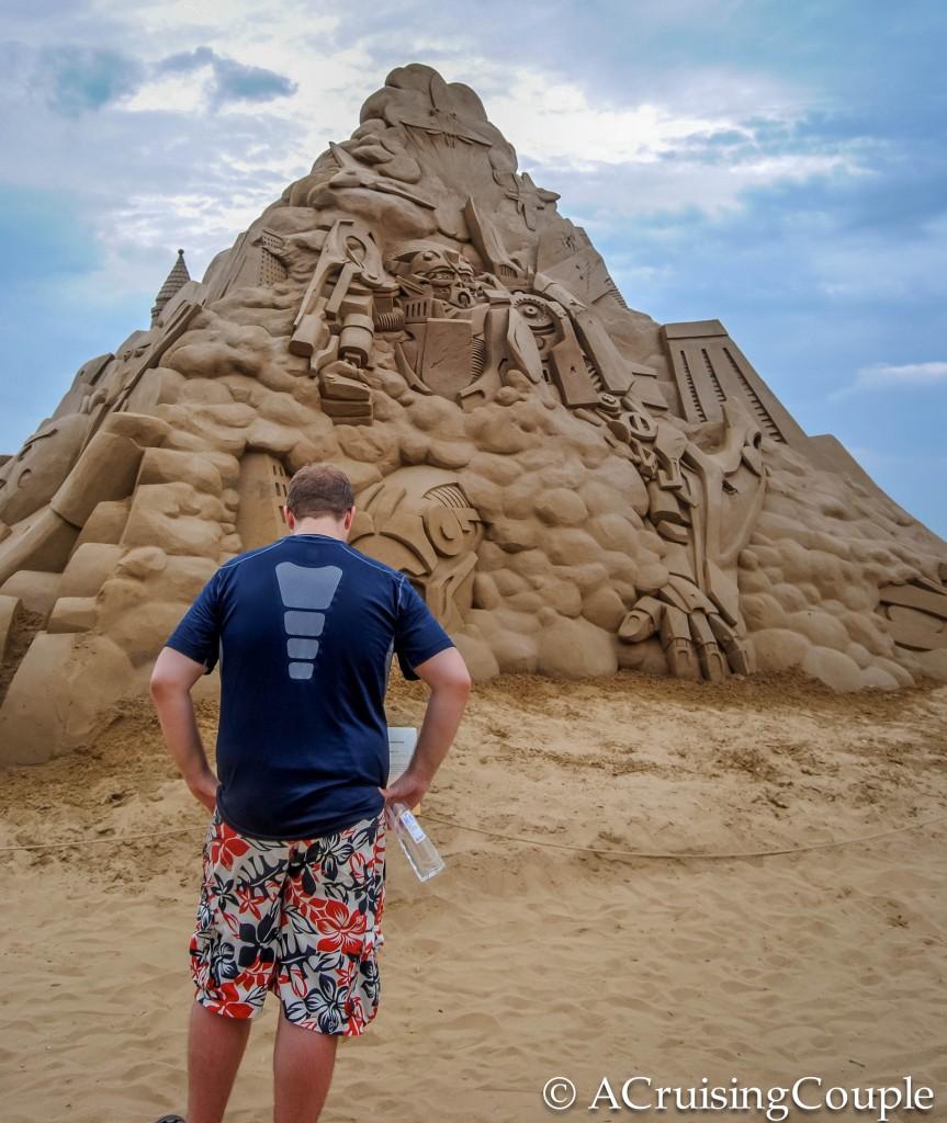 Fulong International Sand Sculpture Festival Taiwan Transformers