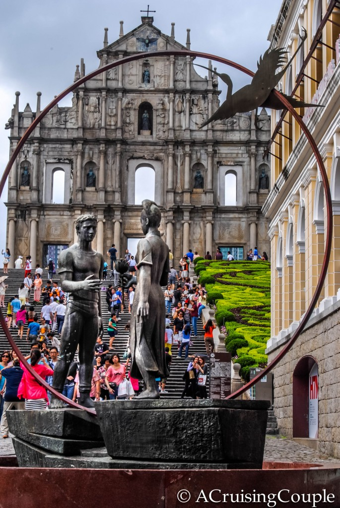 Statue and Ruins of St Paul's Macau
