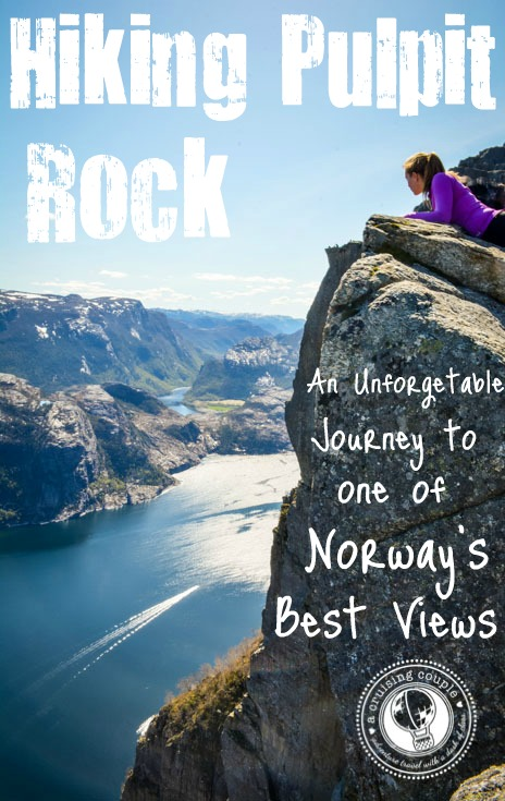 Hiking Pulpit Rock in Norway