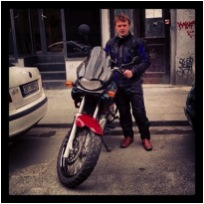Motorcycle in Prague
