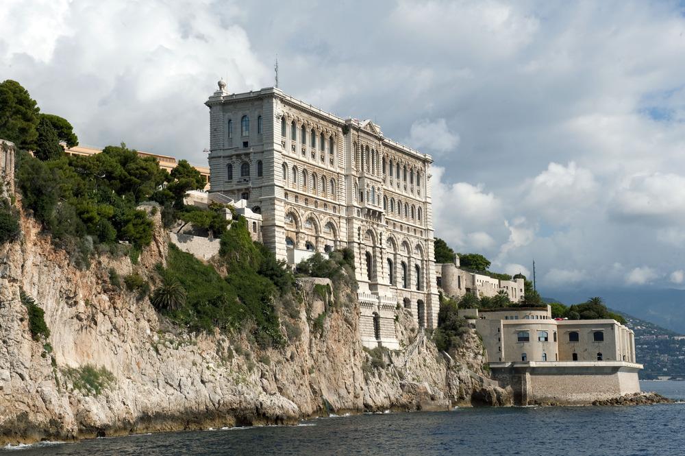 Faade du MusŽe ocŽanographique de Monaco