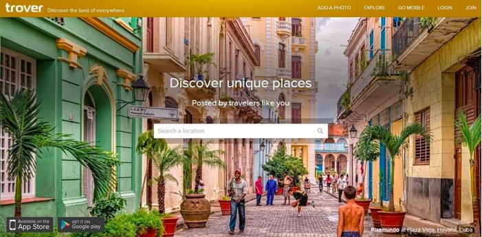 Trover - 5 Unique Travel Apps Everyone Should Have