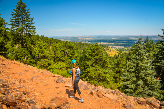 Hiking the Royal Arch Trail In Boulder Colorado
